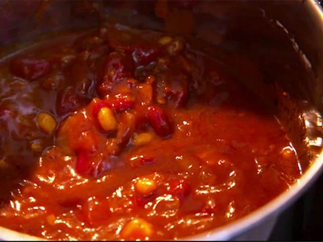 Chili in der Pfanne