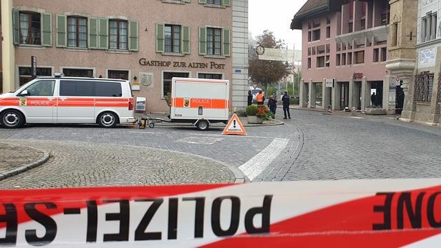Polizeieinsatz weil Explosionen