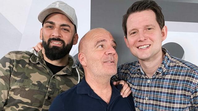 Hamza Raya, Guy Landolt und Fabian Unteregger.