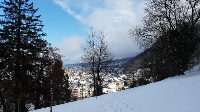 La survista davent dal Hirschbühl