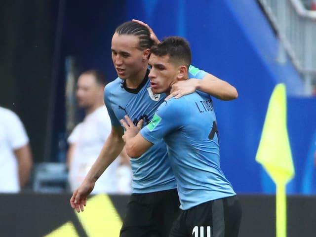 Diego Laxalt und Lucas Torreira.