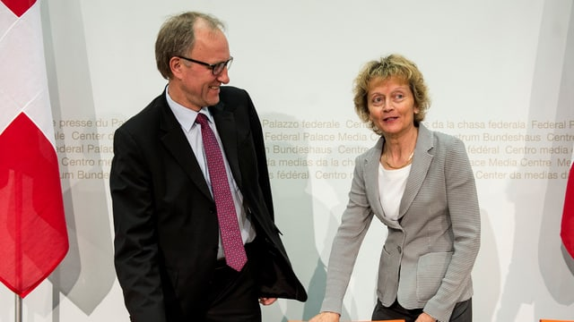 Peter Hegglin ed Eveline Widmer-Schlumpf.