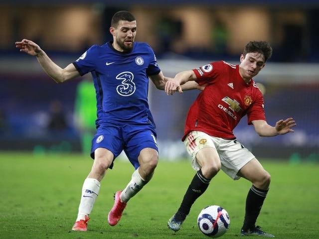 Chelseas Mateo Kovacic (links) und Manchester Uniteds Victor Lindelöf.