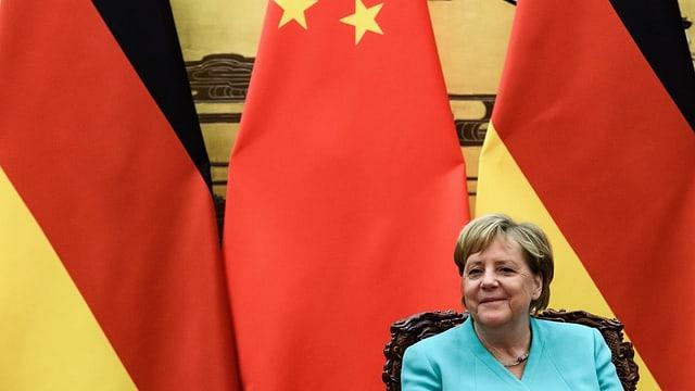 Merkel in China.