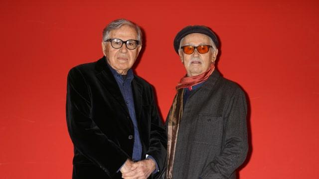 Paolo und Vittorio Taviani an einer Preisverleihung in Mailand, 2015.