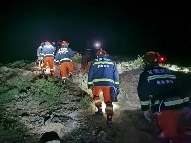 Die Bergung gestaltete sich für die Rettungsmannschaften schwierig.