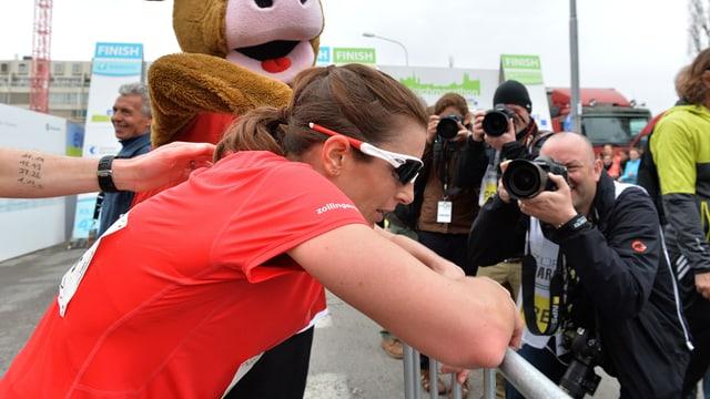 Nicola Spirigs erster Marathon.