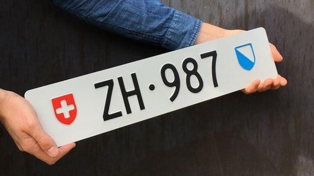 Kontrollschild ZH 987