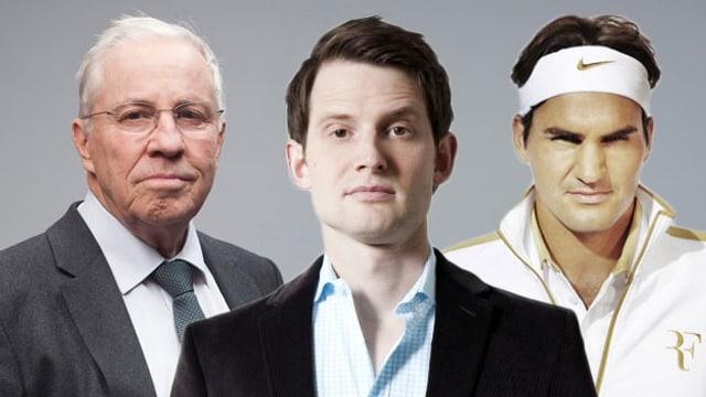 Fabian Unteregger knöpft sich Blocher und Federer vor.