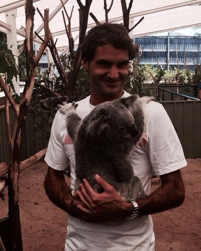 Roger Federer mit Koalabär
