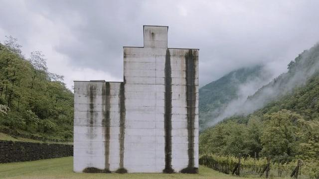 Aussenfassade eines Museums umringt von grün