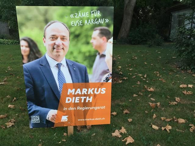 Wahlplakat von Markus Dieth