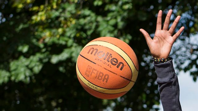 Basketball und Hand