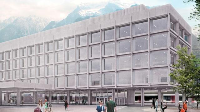 Visualisierung des neuen Kantonsbahnhofs in Altdorf.