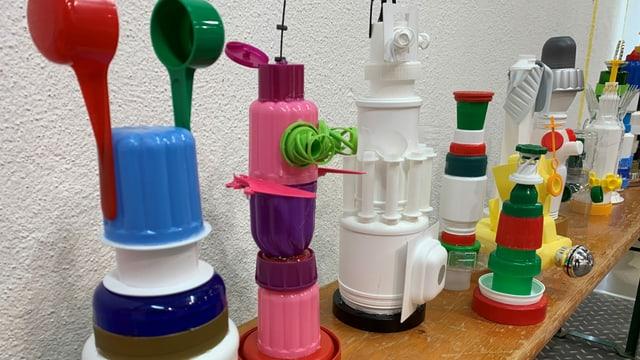 Kunstwerke aus Plastik
