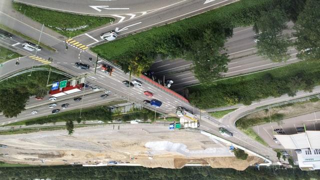 Autobahn A2 und Baustelle