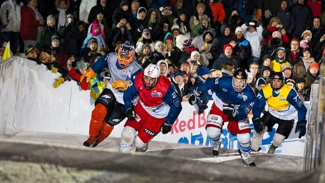 Video «Im Sturzflug in den Eiskanal (Winter-Challenge 13-6)» abspielen