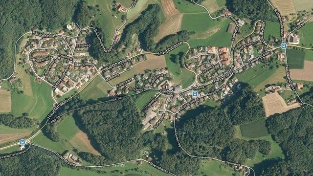 Kartenausschnitt Mühlethal