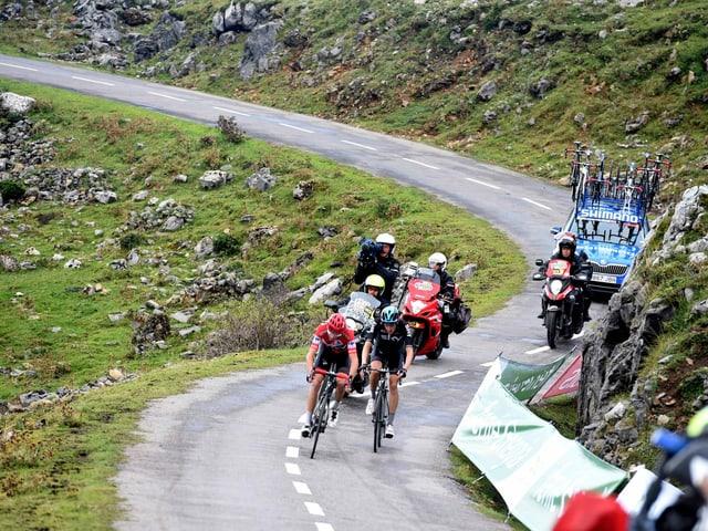 Chris Froome im Anstieg zum Alto d'Angliru.