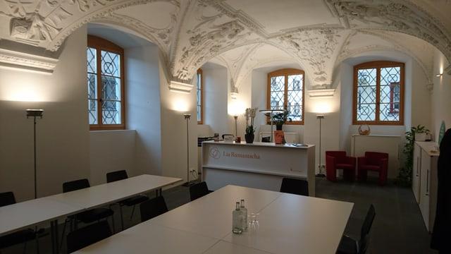 La sala pitschna en la Casa Gronda dal 1677.