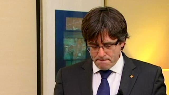 Katalanischer Ex-Regierungschef Carles Puigdemont in Brüssel.