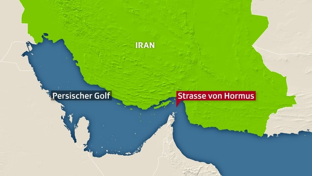 Karte des Persischen Golfs