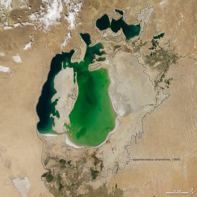 Satellitenaufnahmen der Nasa aus dem Jahr 2000