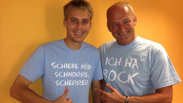 Reto Scherrer und Cony Sutter