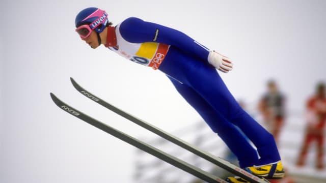 Staffan Tällberg in der Luft.