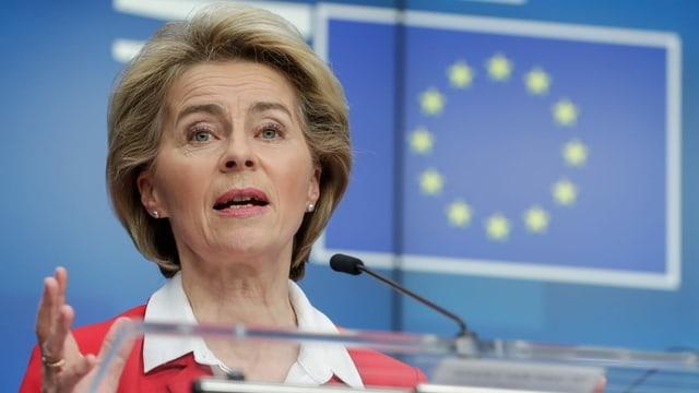 EU-Kommissionspräsidentin Ursula von der Leyen: «Wir haben verstanden, dass das jetzt sein muss.»