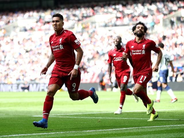 Roberto Firmino bejubelt seinen Treffer.
