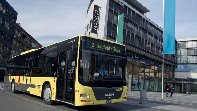Bus im Thuner Stadtzentrum.