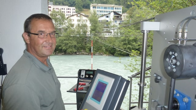 Andreas Kohler en la chasa da mesiraziun a Glion.