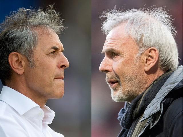 Marcel Koller und Michel Decastel.