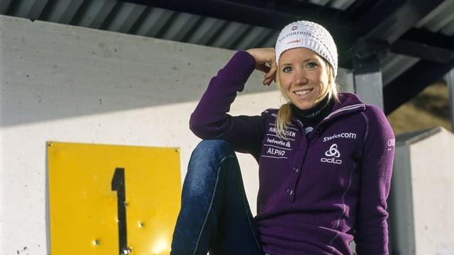 La biatleta grischuna Elisa Gasparin.