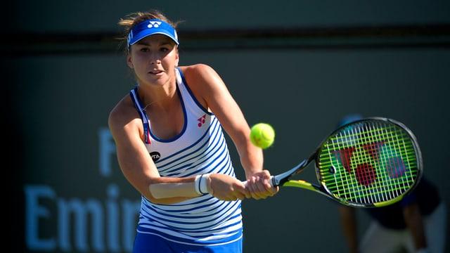 La giugadra da tennis svizra Belinda Bencic.