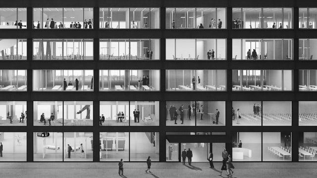 Visualisierung der Fassade des geplanten Innovationsparks.
