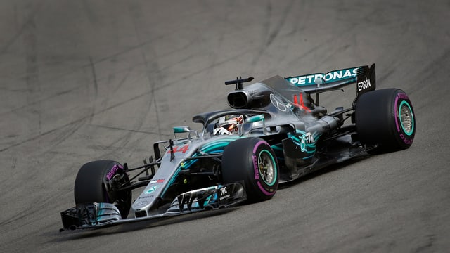 Auto da cursa da Hamilton.