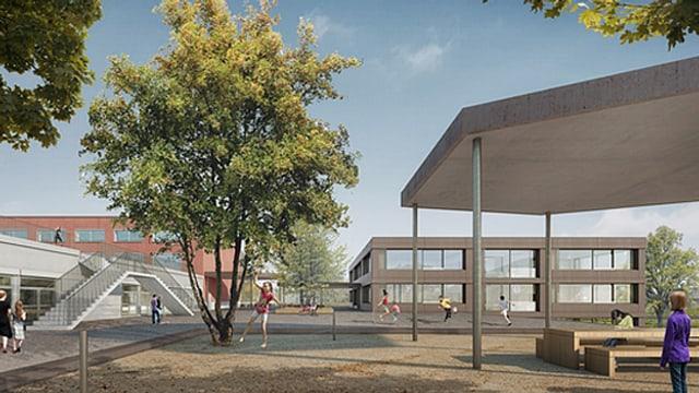 Visualisierung Schulhaus-Neubau Oensingen