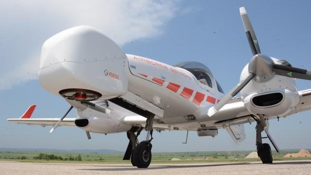 Pottwal? Flugzeug mit Lidar-Nase!