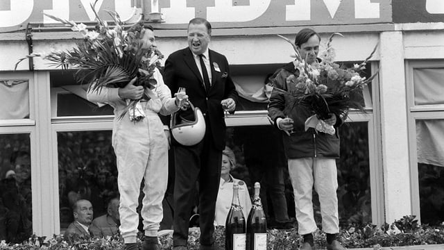 Henry Ford II beim Sieg in Le Mans 1966