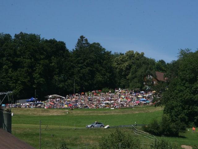 Zuschauer am Bergrennen Reitnau
