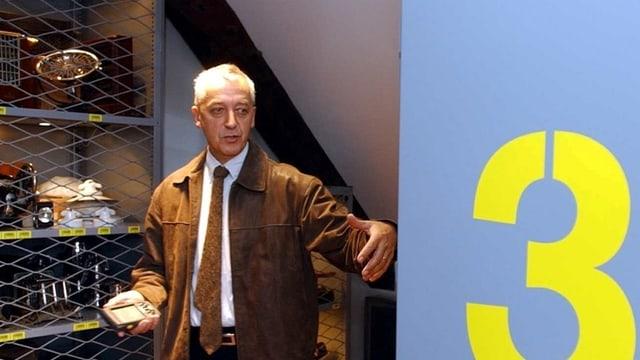 Heinz Horat an der Eröffnung nach der Umstrukturierung des Naturmuseums.