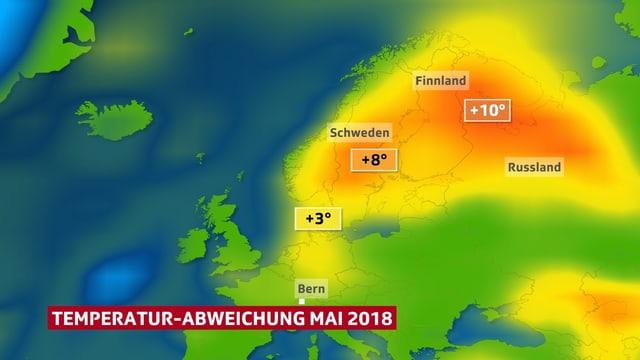 Europa-Karte, im Norden orange.