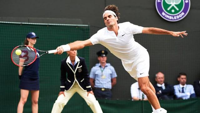 Roger Federer è en il mez-final a Wimbledon.