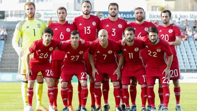 Georgiens Nationalmannschaft in ihrem Erfolgsjahr 2018.