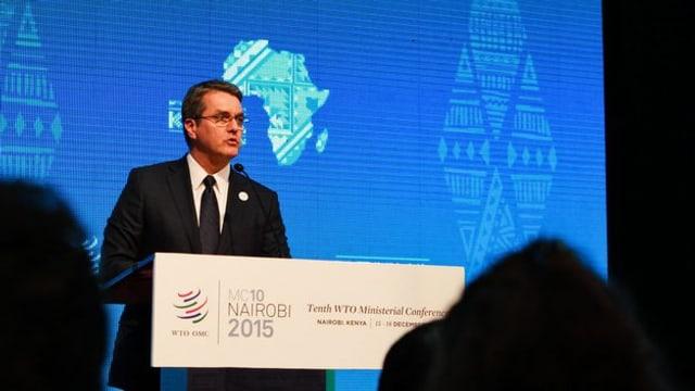 Roberto Azevedo, il directur general da la WTO, è cuntent.