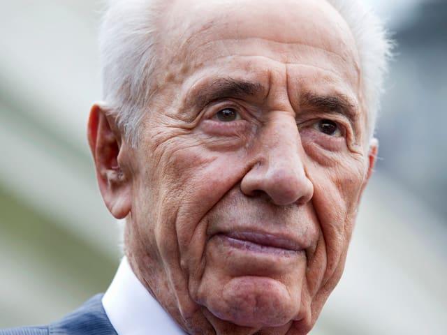 Gesicht von Shimon Peres