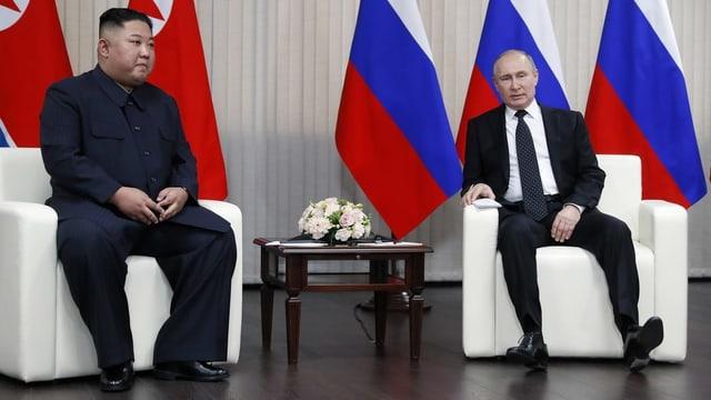 Kim und Putin bei ihrem Treffen