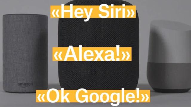 Laschar ir video ««Hey Siri!», «Alexa!», «OK Google!» - ils assistents intelligents»